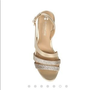 Naturalizer N5 Contour gold glitter heels